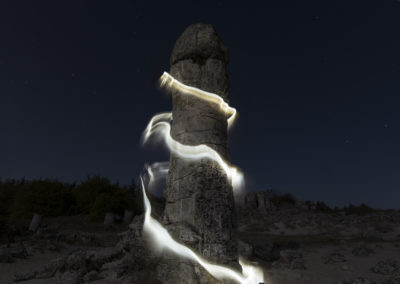 Stone forest and lights#1, Bulgaria, 2019